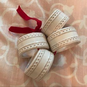 Set of 4 Juliska Napkin Rings (NWOT)